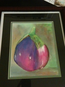 Eggplant in watercolor