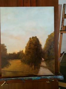 One of first plein air studies.