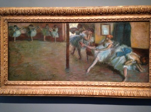"Edgar Degas ""The Ballet Rehearsal"""