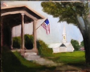 God and Country 9x12 Oil