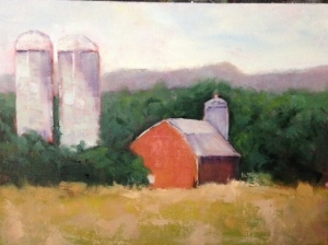 Bertha Barns 11x14 Oil