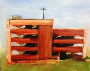Parking Garage Plein Air 8x10 Oil