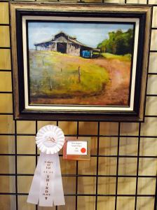 Sandi's Place Oil 3rd Price in the Colors of Fall SAA show.